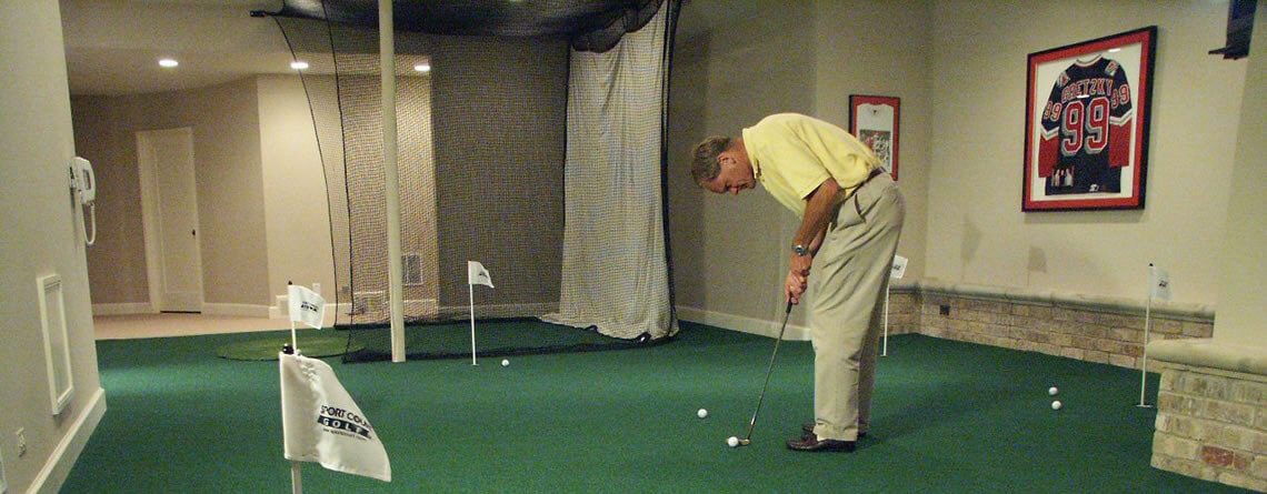 Home Golf Range Indoor Driving Area Power Court