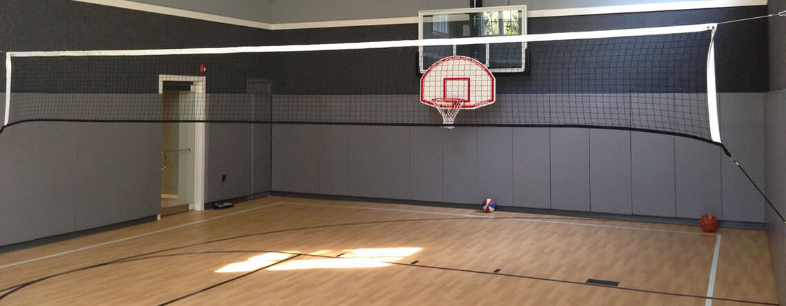 Indoor basketball court power court for Basketball court at home