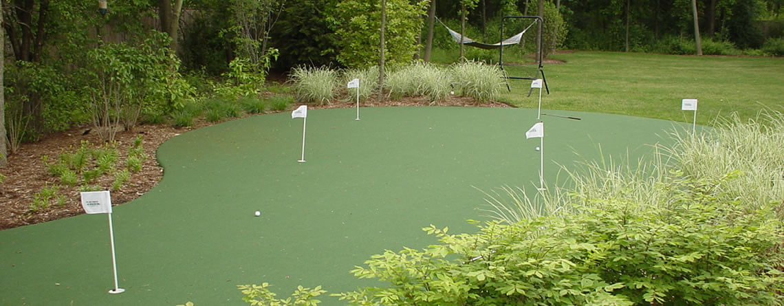 backyard golf putting greens power court
