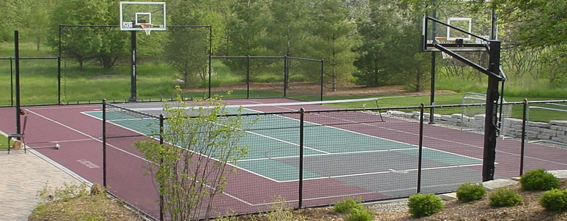 Power Court Backyard Basketball Courts Sports
