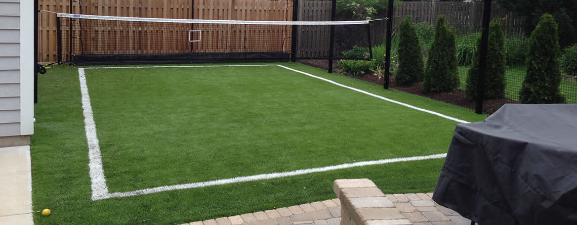 Attirant Backyard Sports Fields By Power Court. Backyard Soccer Training Area