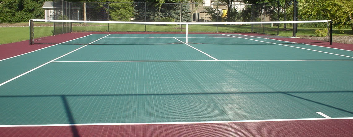 Tennis court builders tennis court cost construction for Residential sport court cost
