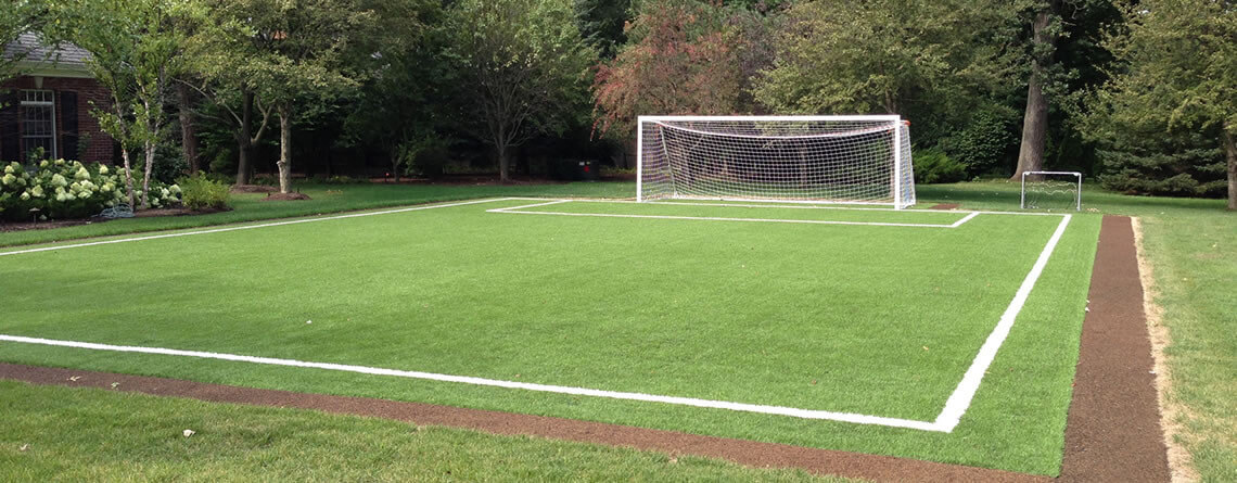 Charmant Backyard Sports Fields By Power Court. Backyard Soccer Training Area